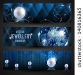 jewellery banners set   eps10   Shutterstock .eps vector #140816365