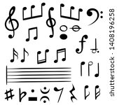 music notes. musical note key... | Shutterstock .eps vector #1408196258