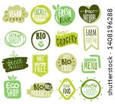 organic food labels. natural... | Shutterstock .eps vector #1408196288