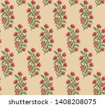 seamless indian mughal flower... | Shutterstock . vector #1408208075