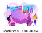 couple going on holiday... | Shutterstock .eps vector #1408208552