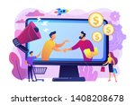 profitable partnership ... | Shutterstock .eps vector #1408208678