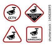 Security Camera  Sticky Labels...