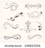 calligraphic design elements... | Shutterstock .eps vector #140822356