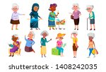 collection of mulicultural old... | Shutterstock .eps vector #1408242035