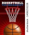 basketball modern sports poster ... | Shutterstock .eps vector #1408253228