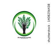 tree leaf vector logo design ... | Shutterstock .eps vector #1408256438