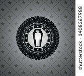 dead man in his coffin icon...   Shutterstock .eps vector #1408267988