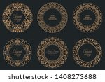 set of circular baroque... | Shutterstock .eps vector #1408273688