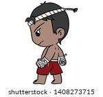 muay thai boxing thailand... | Shutterstock .eps vector #1408273715