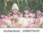 portrait of happy asian young... | Shutterstock . vector #1408274435