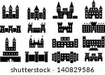 castle icons | Shutterstock .eps vector #140829586