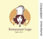 momy's chef and restaurant... | Shutterstock .eps vector #1408298312