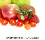 Isolated Fruit And Veg With...