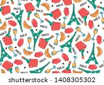 cute seamless pattern with... | Shutterstock .eps vector #1408305302