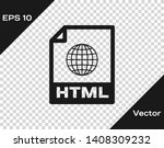 grey html file document icon....   Shutterstock .eps vector #1408309232
