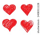 hand drawn heart icon sign   Shutterstock .eps vector #1408311128
