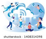 social media network lifestyle... | Shutterstock .eps vector #1408314398