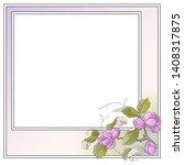 vector plant vignette for...   Shutterstock .eps vector #1408317875