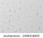 water drops isolated. rain drop ... | Shutterstock .eps vector #1408318835