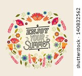 illustration with flowers and...   Shutterstock .eps vector #140832562