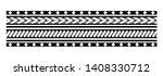 tattoo tribal maori pattern ... | Shutterstock .eps vector #1408330712