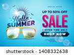 summer sale design with... | Shutterstock .eps vector #1408332638