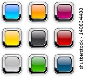 set of blank colorful square... | Shutterstock .eps vector #140834488