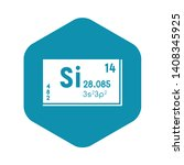 silicon chemistry icon. simple... | Shutterstock .eps vector #1408345925