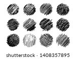 set of twelve sketch scribble... | Shutterstock .eps vector #1408357895
