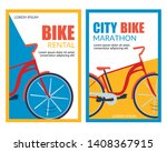bycicle rental. city bike... | Shutterstock .eps vector #1408367915