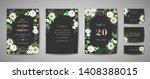 set of wedding invitation ...   Shutterstock .eps vector #1408388015