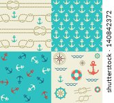 four seamless patterns of... | Shutterstock .eps vector #140842372