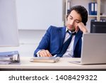 young handsome businessman... | Shutterstock . vector #1408429322