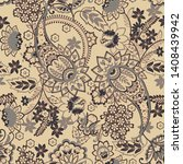seamless pattern with paisley... | Shutterstock .eps vector #1408439942