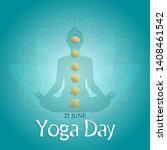 yoga day greeting card... | Shutterstock .eps vector #1408461542