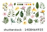 set of tropical exotic flowers... | Shutterstock .eps vector #1408464935