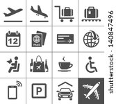 Airport Icon Set. Universal...