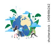 group of people or ecologists... | Shutterstock .eps vector #1408486262