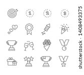 set of champion icons. award...   Shutterstock .eps vector #1408493375