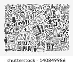 doodle network element | Shutterstock .eps vector #140849986
