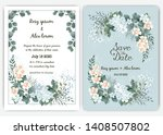 greenery wedding invitation ... | Shutterstock .eps vector #1408507802
