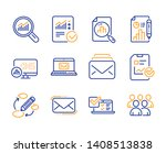 analytics graph  mail and... | Shutterstock .eps vector #1408513838