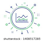 line chart icon. financial... | Shutterstock .eps vector #1408517285