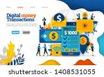 digital money transaction....