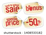 back to school sale stickers... | Shutterstock .eps vector #1408533182
