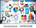 infographic elements   set of...   Shutterstock . vector #140853688