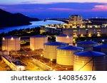 oil tank in cargo terminal | Shutterstock . vector #140856376