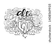 all i need is love  inspiring... | Shutterstock .eps vector #1408569935