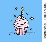 pink birthday celebration...   Shutterstock .eps vector #1408578188